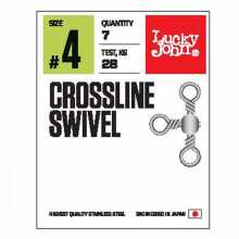 Вертлюги LUCKY JOHN трехстор. LJ Pro Series CROSSLINE SWIVEL 006 7шт.